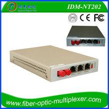 optic fiber Provides 2 channel shared 100M Ethernet. telephone Multiplexer