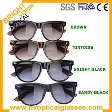 Unisex fashionable comfortable wayfarer wood/bamboo temple sunglasses acetate optical frames (5117)