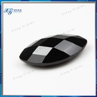 Rough Uncut Gemstones Diamond Price Per Carat.Brilliant AAAA Marquise Cut Checkerboard Synthetic Crystal Glass Black Gemstone