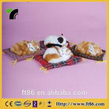 Plush Fur toys crafts popular Christmas decoration animal model sleeping little cat