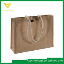 Natural hessian shopping bag tote shopping hessian bag