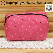 Ging Wa Japanese Stylish Gift Washable Polyester Leisure Pink Mini Dot Travel Kimono Yukata Makeup Phone Money Stationery Bag