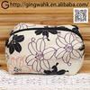 Fuuka Japanese Stylish Present Washable Polyester Leisure Black Lily Kimono Yukata Makeup Phone Money Stationery Travel Bag