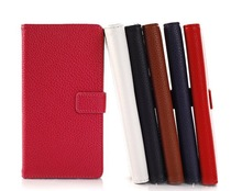 Litchi grain Stand PU leather case For Sony Ericsson Xperia L39h Z1