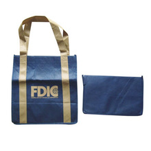 Folding Nonwoven Shopping Bag, Suitable for Promotional Purposes, OEM Orders are Accepted