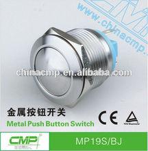 19mm CMP waterproof anti-vandal IP67 1NO momentary miniature push button switch(passed TUV,CE,SGS,RoHS)