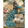 Antique designs mermaid bronze sculpture, brass water fountain statues, home yard decor, metal casting