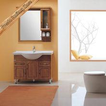 Wooden Bathroom Cabinet Bathroom Vanity Ceramic Wash Basin Washroom Cabinet Mirror