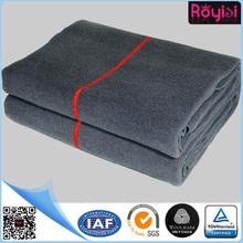 brown wool military blanket