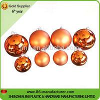 100mm hollow Christmas plastic ornament balls