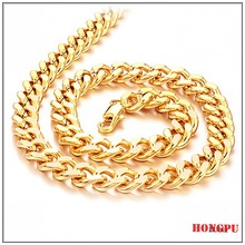 hot selling 18k gold plated fashion men necklace jewelry