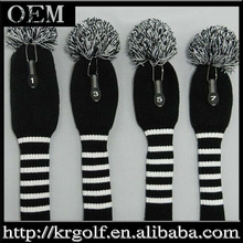 Personlized Premium Quality 4pcs/set Knited Golf Set Wood Driver Fairway Club Head Covers Headcover set
