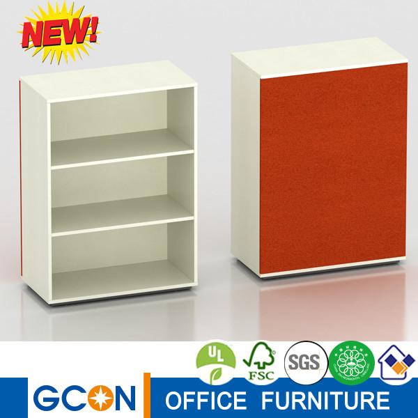 Good quality Fabric colorful back design wooden bookshelf