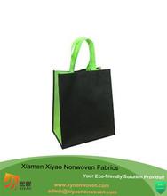 Black shopper bag plain non woven bag price