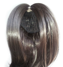 Wholesale Cheap Black Silky Straight Synthetic Hair Doll Wig