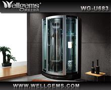 wellgems Aluminium profile new design shower bath steam room
