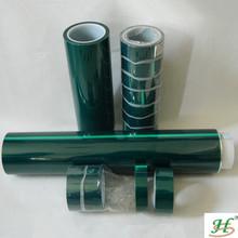 Silicone adhesive single sided PET auto paint masking film