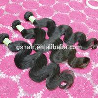 High quality 6A grade Brazilian body wave virgin human hair fish line hair extension asian