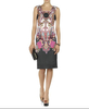 Latest design 2014 formal office dresses for women high-grade palace print dress sexy pictures of girls without dress