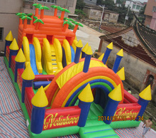 Empire giant inflatable fun city for kids, giant amusement park,inflatables FN048