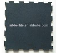 Golden supplier interlock gym rubber flooring / crossfit rubber tile