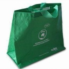 Green large non woven bag /cheap nonwoven bags/ new design nonwoven bag with two long woven handles wholesale
