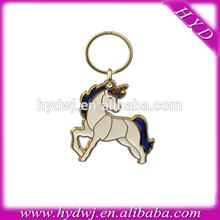 Fashion Unicorn Stained Glass enamel keychain
