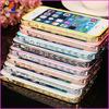Luxury Transparent plastic bumper diamond case for iPhone 5