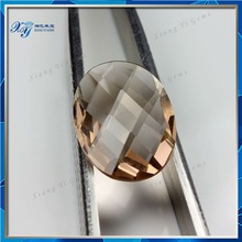 wholesale oval shape bezel set crystal glass gemstone beads for dresses