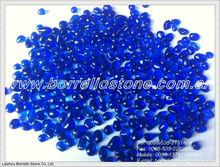 Cobalt blue irregular glass bead