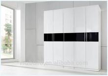 Five doors modern wooden bedroom wardrobe design/ Ritz wardrobe