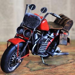 Good quality metal craft antique motorcycle model for home decoration