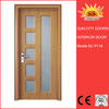 Elegent solid wooden sliding barn MDF door SC-P116