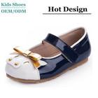 bowknot enamel leather OL kids girls dress shoe