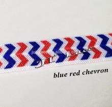 4th, July,2014 red/white/blue !! Elastic hair bands , hair tie , headband, fold over elastic, FOE on wholesale, elastic