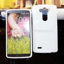 2014 new arrival flexible plain solid white rubber gel phone case for LG G3