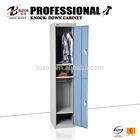 Factory sales KD 2 door cabinet steel shoe storage locker