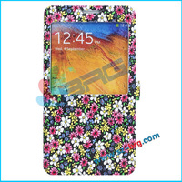 BRG- Hot Sale Flip Cover for Samsung galaxy note 3 Flip Case With View Window and Stand