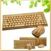 Arabic style mini usb wireless bamboo keyboard and mouse combo
