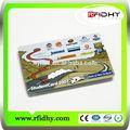 Profesional de pvc en blanco rfid chip ic de crédito/id de tarjeta magnética