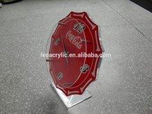 acrylic clock for coca cola