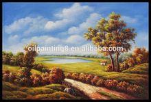 Canvas natural rural landscape oil painting for home decor wholesale