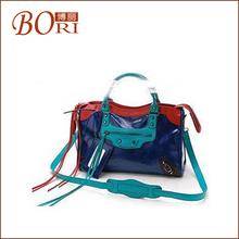 2014 fashion school pu leather korean style ladies hobo bag