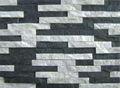 Hs-zt007 fino branco quartzito laje pré-fabricada painel de pedra