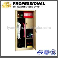 2014 Hot seller bedroom furniture metal two door storage lockers cabinet designs for bedroom