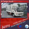 JAC 4x2 mini lorry transportation truck and trailers,dry cargo box truck van