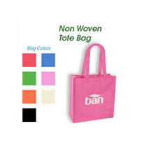 FH Pink Non Woven Shopping Bags Promotional Bags