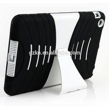 Crosswise kickstand black plastic case for iPad mini