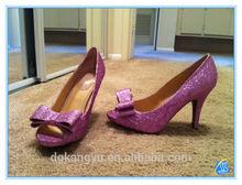 diamond high heels wedge glitter powder
