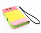 Top quality leather Wallet flip Case Cover Protector For Samsung Galaxy S3 mini i8190